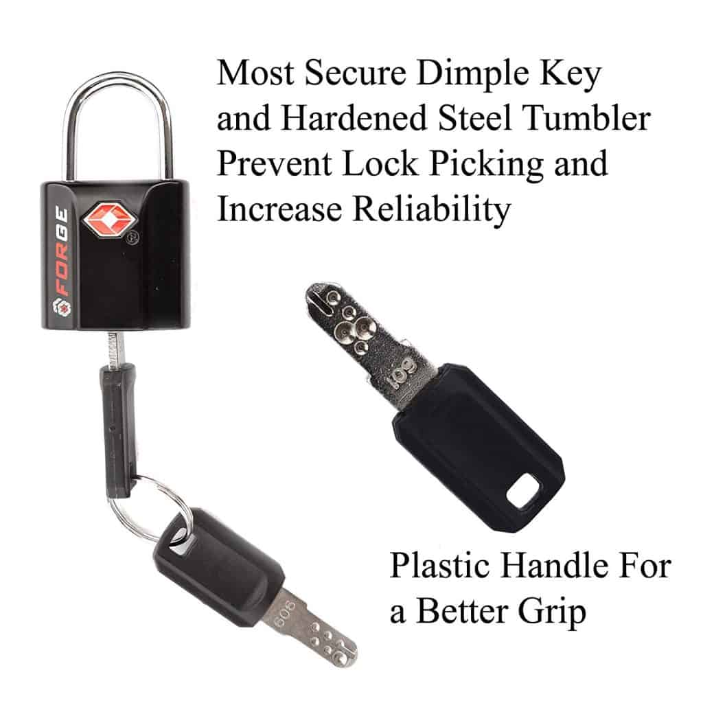 Ultra-Secure Dimple Key Travel Locks with Zinc Alloy Body