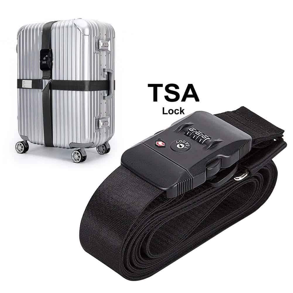 luggage strap tsa lock