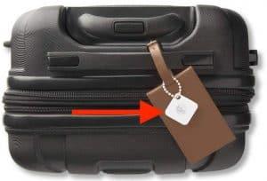 luggage tracker tag handle