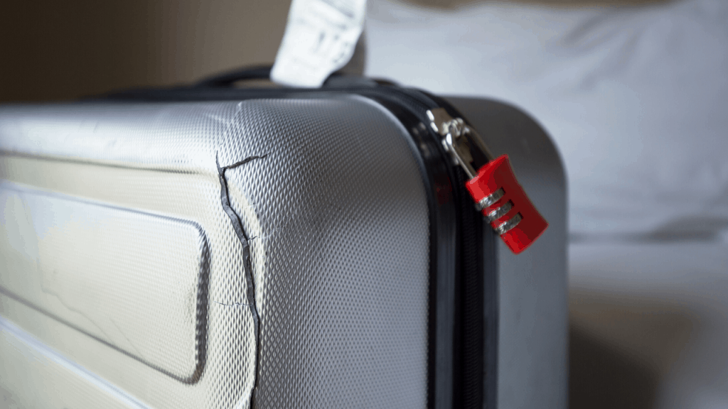 damaged suitcase do luggage covers work