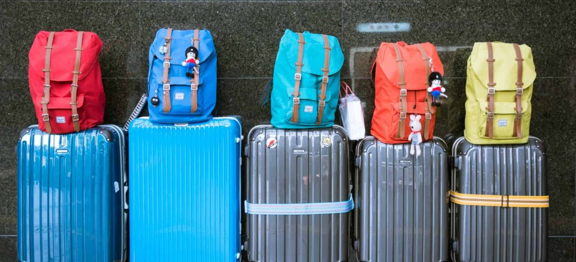 checked luggage traveling